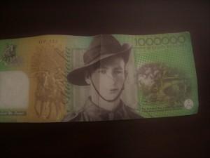 1000000 note Aus salvation