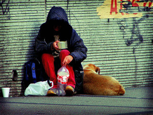 poverty homeless person